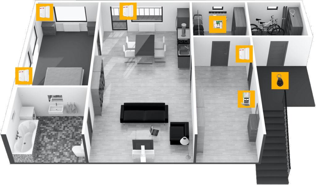 Beispiel Preis für die Absicherung einer Wohnung mit einer Alarmanlage